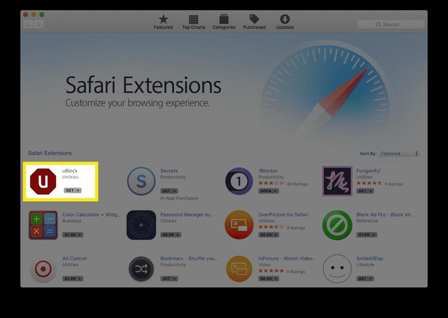 ublock safari extension