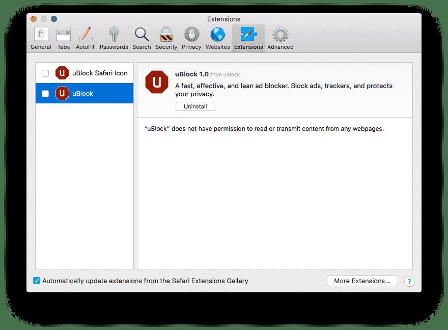 ublock Extensions